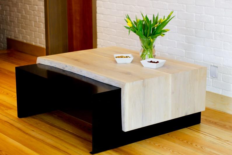 Ława drewniana dębowa do salonu